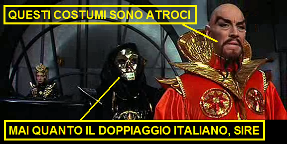 vignetta sul doppiaggio italiano di Flash Gordon