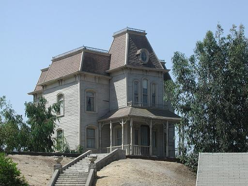 la casa di Psycho sul set a Hollywood