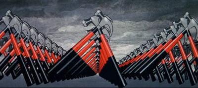 Scena dal film The Wall di Alan Parker, martelli animati che marciano