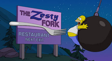 The Zesty Fork restaurant. Dal film dei simpson