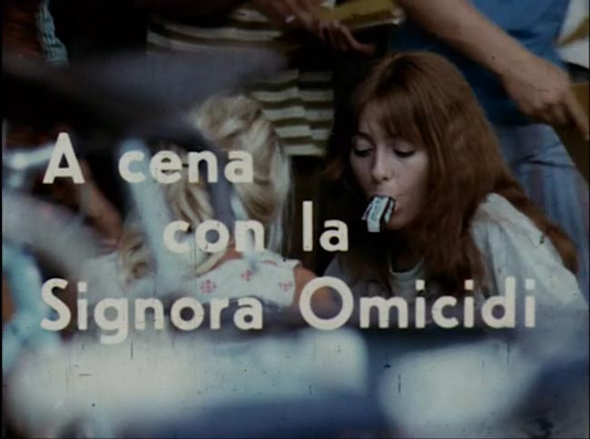 Titolo italiano dal film A cena con la signora omicidi, da pellicola originale