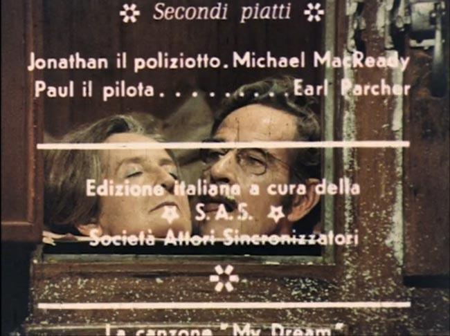 Titoli di coda del film A cena con la signora omicidi, doppiaggio della SAS Società Attori Sincronizzati