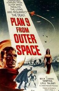 Locandina di Plan 9 from outer space, in Italia intitolato Piano 9 da un altro spazio