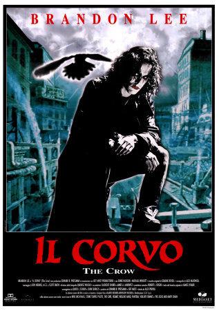 Locandina italiana del film Il corvo con Brandon Lee