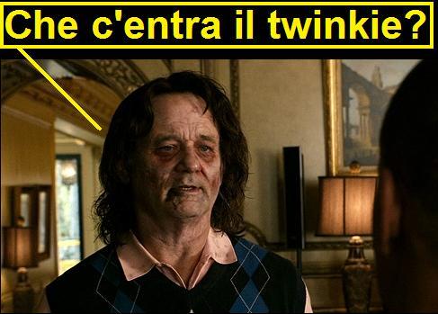 Bill Murray in Benvenuti a Zombieland che dice che c'entra il twinkie