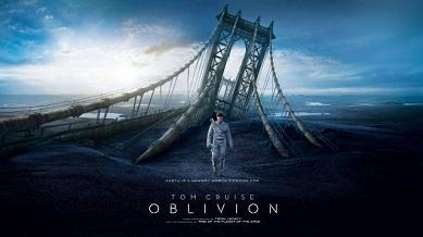 Locandina di Oblivion con Tom Cruise