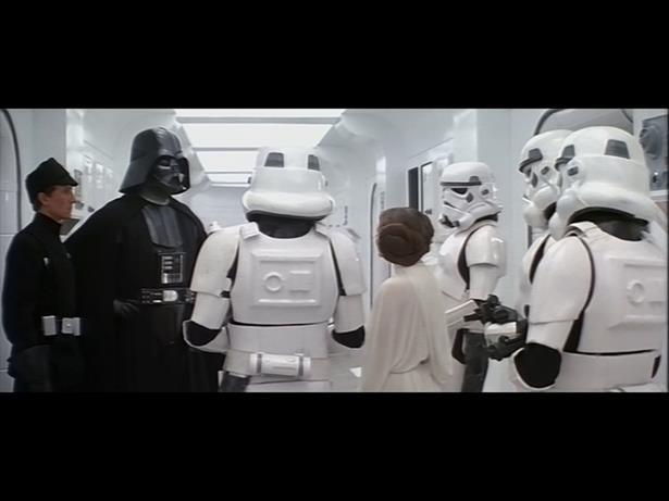 Fotogramma dal film Guerre stellari in formato letterbox 4:3