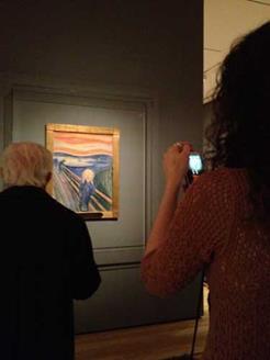Foto del dipinto di Much, l'Urlo