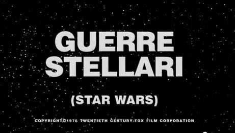 Trailer italiano del 1977 di Guerre stellari