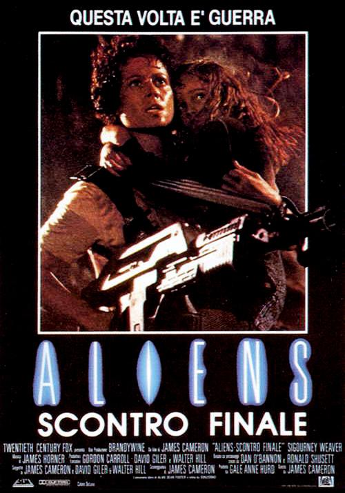 Locandina italiana su VHS di Aliens - scontro finale 1986