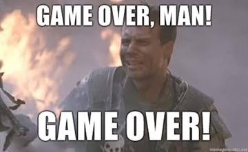 Hudson meme Game Over Man Game-Over from Aliens 1986