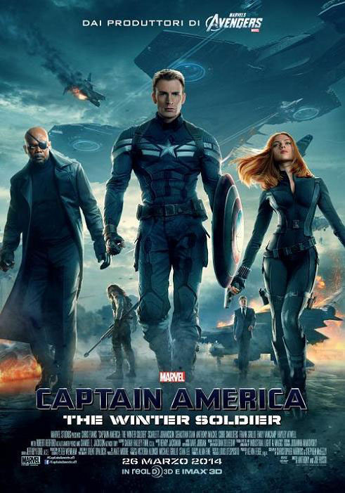 Locandina italiana di Captain America The Winter Soldier