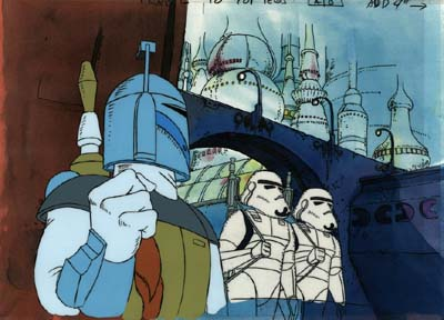 Boba Fett cartone animato nello Star Wars Holiday Special