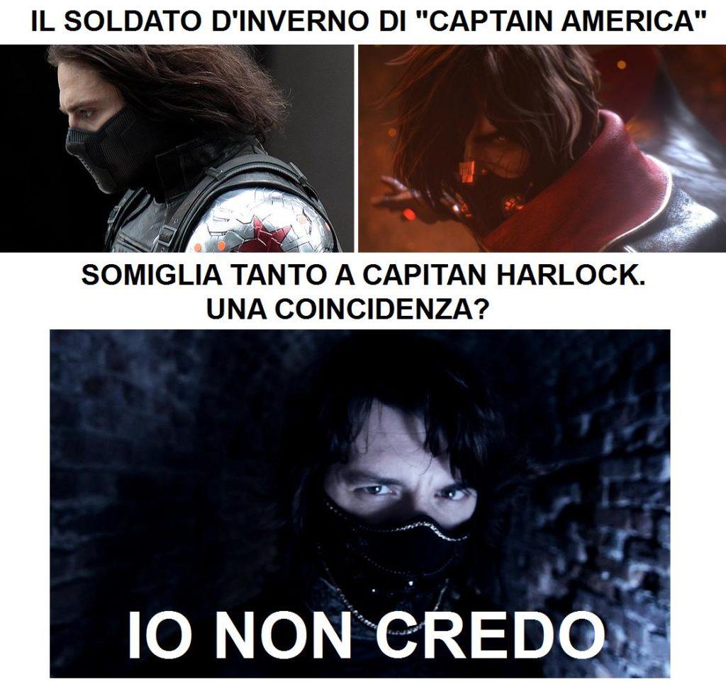 Coincidenze? Captain America paragonato a Capitan Harlock