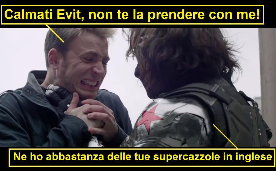 Basta supercazzole. Vignetta su Captain America Winter Soldier