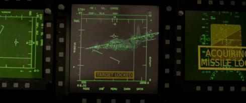 Scena dal film Attacco al potere, schermi di puntamento missili anti-aereo