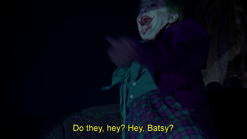 Ehi, bat-mancato. Battuta dal doppiaggio di Batman 1989