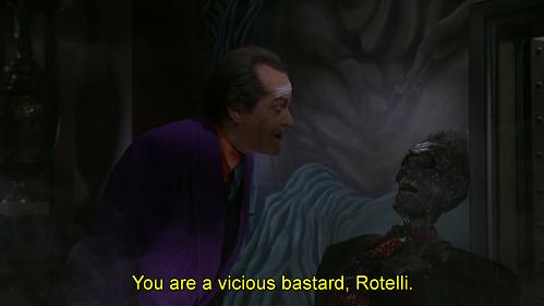 Prima eri una tigre di carta Antoine... Battuta dal doppiaggio di Batman 1989