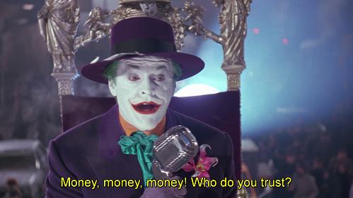 strippa strippa strippa, money money money. Battuta dal doppiaggio di Batman 1989