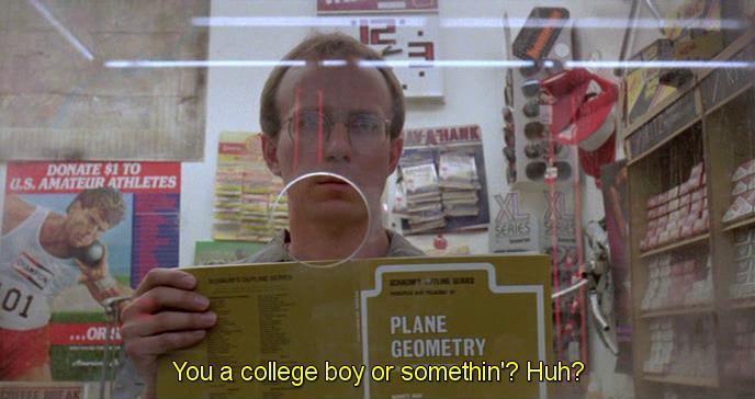 Scena da Robocop 1987. Che vai al college, bello di mamma, eh?