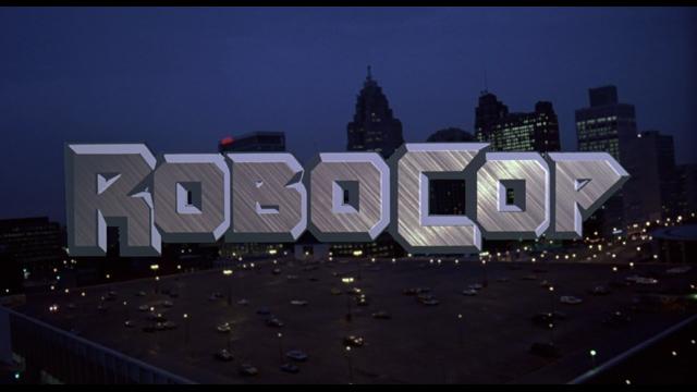 Titolo di apertura di RoboCop del 1987