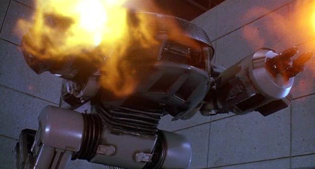 mangiate piombo scemi, robot ED da Robocop 3