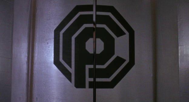 Logo dela OCP su una porta, dal film Robocop 3