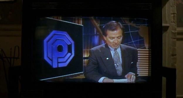 Logo della OCP da un telegiornale in Robocop 3