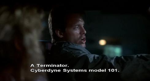 Kyle Reese spiega che il terminator è un modello Sistemi Cibernetici 101