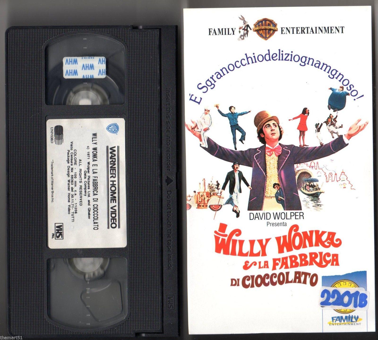 VHS del film Willy Wonka e la fabbrica di cioccolato