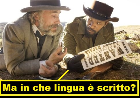 django unchained battuta wanted morto o vivo, dal doppiaggio italiano del film