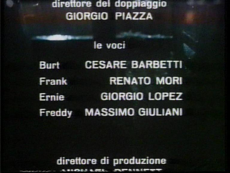 Doppiatori del film Il ritorno dei morti viventi 1985, Cesare Barbetti, Renato Mori, Giorgio Lopez, Massimo Giuliani