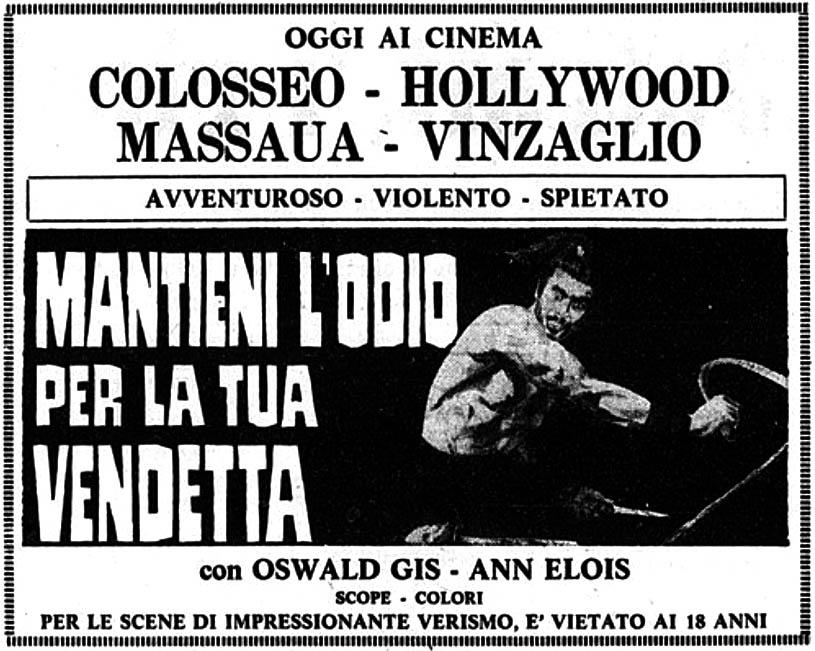 Primo film marziale apparso in Italia, passato del tutto inosservato all'epoca