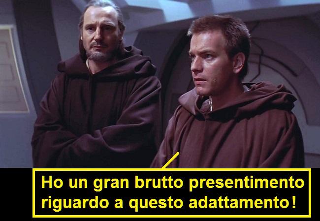 obi wan ha un brutto presentimento sull'adattamento italiano di Star Wars episodio I la minaccia fantasma