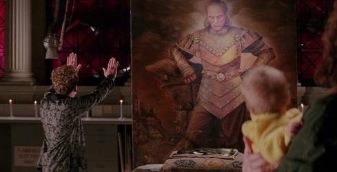 Scena da Ghostbusters 2, il quadro di Vigo il carpatico e Janosz che lo invoca