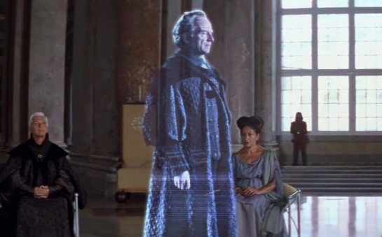 Ologramma del senatore Palpatine da Star Wars Episodio 1 la minaccia fantasma
