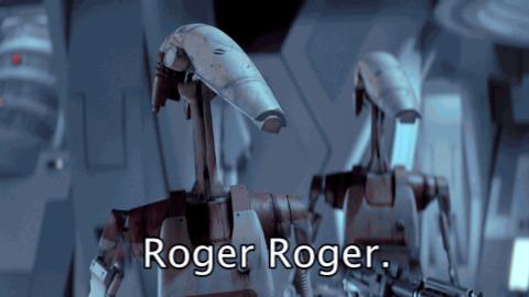 """Robot della federazione che dicono """"roger roger"""""""