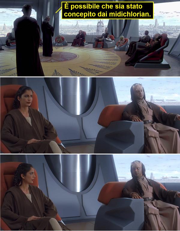 Anakin Skywalker concepito dai midichlorian