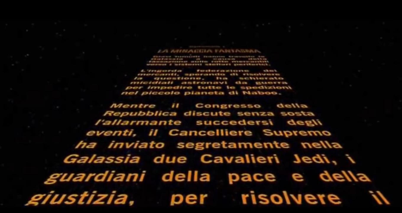 Titoli di inizio di Star Wars Episodio 1 la minaccia fantasma
