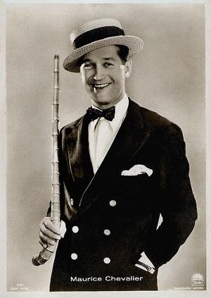 Cartolina con foto di Maurice Chevalier. Proprietà di Paramount. Pubblicata da Ross-Verlag.