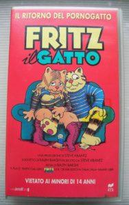 VHS di Fritz il Gatto, versione 1995 della RCS
