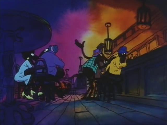 Scena di Fritz il gatto con doppiaggio dialettale, battute del Bagaglino sulla FIAT