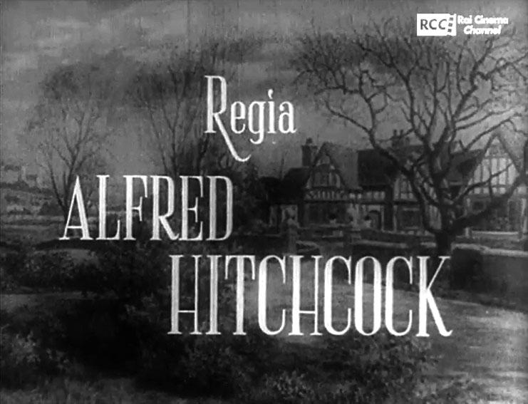 Fotogramma dei titoli di testa in italiano del film Il sospetto, leggono regia di ALFRED HITCHCOCK