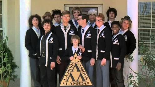 Cast del film La Rivincita dei nerds nel quale il doppiatore Fabrizio Mazzotta doppiava il più piccolo del gruppo
