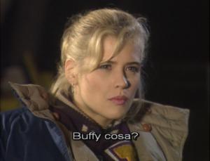 Kristy Swanson nel dietro le quinte di Buffy l'ammazzavampiri che si chiede Buffy cosa?