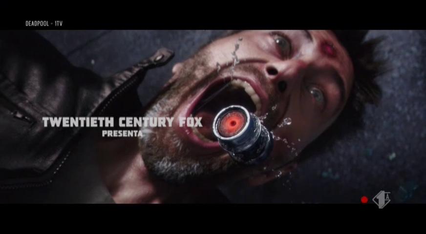 Titolo di testa del film Deadpool, legge: Twentieth Century Fox presenta