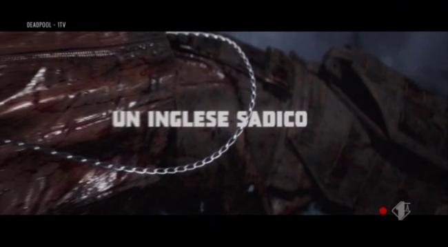 Titoli di inizio di Deadpool: un inglese sadico
