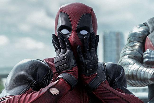 Deadpool faccia sorpresa