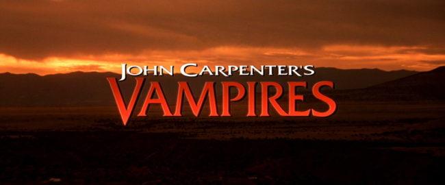 John Carpenter's Vampires. Fotogramma del titolo del film Vampires di John Carpenter