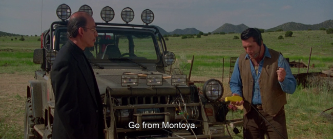 Daniel Baldwin che dice: e Montoya va, nel film Vampires di John Carpenter